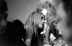 Sharon Tate photographed at a London dinner party