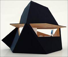 ¿Sacarías la oficina al jardín? http://tetra-shed.co.uk #arquitecturadelfuturo
