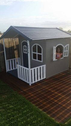 Billie Timber Cubby House. Kids love playing in their Cubbies. www.hideandseekcubbies.com.au