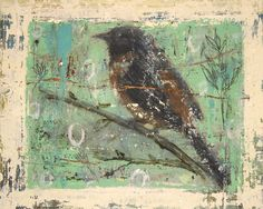 lynnehoppe:    matt flint ~ bird study II (for spring)