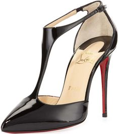 Christian Louboutin Printed Patent Leather Heart-Toe Pumps ...