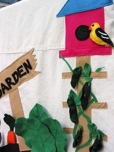 Felt and Canvas Playhouse ~ Garden by Niesz Vintage Fabric, via Flickr