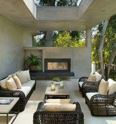 Feldman House Patio - Architecture and Home Decor - Bedroom - Bathroom - Kitchen And Living Room Interior Design Decorating Ideas - Terrasse Design, Patio Design, House Design, Loft Design, Exterior Design, Design Design, Outdoor Living Rooms, Outdoor Spaces, Outdoor Decor