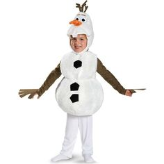 2015 top fashion Olaf Deluxe toddler baby fantasia halloween carnival movie costume Kids fancy party dresses 3pcs Outfit