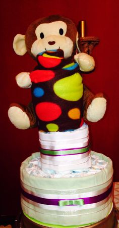 My Adorable Monkey 3 tier cake
