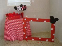 Mickey and Minnie Mouse Birthday Party picture booth