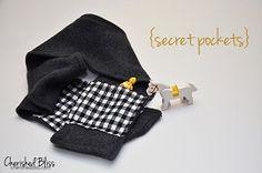 Tutorial: Child's fleece scarf with secret pockets · Sewing   CraftGossip.com