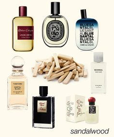 Creamy Sandalwood: Santal Carmin, Tam Dao EDP, Blue Santal, Santal Sacré, 10 Corso Como, Sacred Wood, and Santal Blush.  #niche #perfume #luckyscent