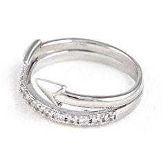 Tai Jewelry Silver Arrow Ring