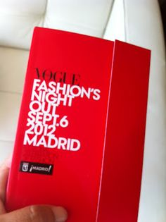 Vogue Fashion Night Out Madrid Vogue Fashion Night, Reception, Messages, Receptions