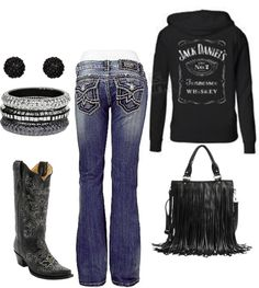 """Country"" by honeybee20 ❤ liked on Polyvore I hate the purse but love love love everything else!!!!!"