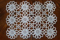 Crochet Placemat 19 x 14 / Table cloth / New by FestiveCrafting