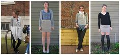 Favorite fall outfits from Tania of the former What Would a Nerd Wear blog. More on the link.