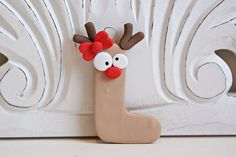 Reindeer Initial Ornament by melaniescrafts on Etsy, $8.00