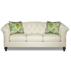 "The Ava Sofa from Hickorycraft is a transitional sofa with a chesterfield look and style with a three cushion configuration. The sofa is also available as a 68"" loveseat. The Ava sofa and loveseat can be seen and ordered ordered at any of our Toms-Price Chicago showrooms."
