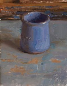 Blue pot A Daily painting by Julian Merrow-Smith