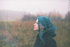 pretty blue dreads