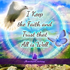 Today's Centering Thought: I Keep The Faith And Trust That All Is Well <3 #affirmation #coaching It is not enough just to repeat words, while repeating the affirmation, feel and believe that the situation is already real. This will put more energy into the affirmation.