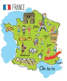 Xenia Sova - Map of France