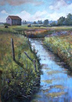 La grange (soft pastel) by PatrickHENRY on deviantART