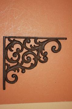 4 Leaf /& Vine Shelf Brace Shelf Bracket Corbel Cast Iron Rustic FREE SHIPPING