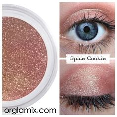 Sugar and spice make everything oh-so-nice! This downright delectable shade of extra rich and creamy spice is ideal for everyday-- it's sexy, without trying too hard. {Retired} Only available while supplies last. The Cookie Exchange collection. What it is:Highly pigmented, long-wearing and crease-resistant, Orglamix all-natural concentrated color eyeshadow contains no fillers, binders or extenders typically found in most mineral makeup. The result is an amazingly velvety texture; rich, dense…