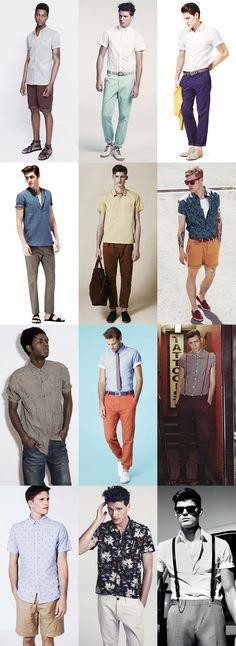 Men's Short Sleeved Shirt Lookbook