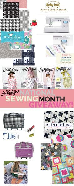 See Kate Sew Sewing Giveaway Sewing Basics, Sewing Hacks, Sewing Crafts, Sewing Diy, Sewing Tutorials, Sewing Ideas, Love Sewing, Baby Sewing, Sewing Courses