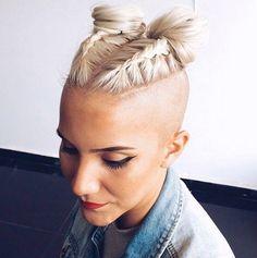 New Bob Haircuts 2019 & Bob Hairstyles 25 Bob Hair Trends for Women - Hairstyles Trends Undercut Hairstyles, Box Braids Hairstyles, Straight Hairstyles, Black Hairstyles, Pretty Hairstyles, Short Braided Hairstyles, Undercut Styles, Shaved Side Hairstyles, Teenage Hairstyles