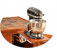 Add A Mixer Lift To Your Kitchen Island|50+ Ways To Personalize Your.  Hardwood FurnitureAmish FurnitureMixerKitchen IslandPittsburgh