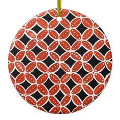 Batik siti 03 ceramic ornament - holidays diy custom design cyo holiday family