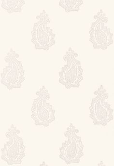 'Madras Paisley' Wallpaper in Oyster by F. Schumacher Wallpaper. ''Jaipur' collection.