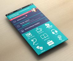 Univeristy App concept by Adam Kulesza, via Behance