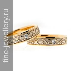 Ажурные обручальные кольца из золота
