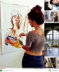 Artist at work                                                        -