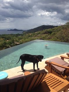 Amazing view of the infinity pool and ocean of Casa De Los Suenos. Located in Hermosa Heights, Guanacaste Costa Rica.