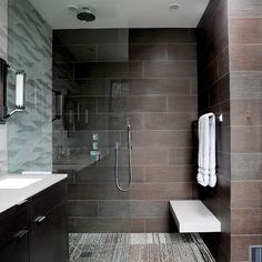doorless showers | Ceramic tile walk in showers designs design pictures remodel decor ...