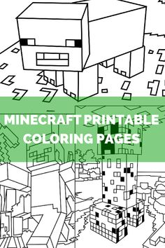 Actual Minecraft coloring pages, not just an ad to download an app! Pinned for road trips this summer.