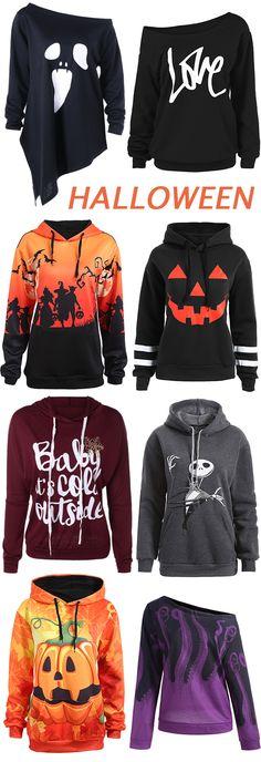 Halloween:Plus Size Sweatshirts & Hoodies