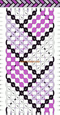 Friendship Bracelet Pattern.