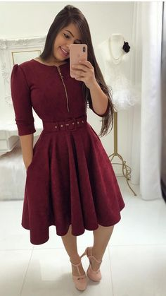 Unique prom dresses with hottest - Fashion Unique Prom Dresses, Modest Dresses, Nice Dresses, Casual Dresses, Burgundy Evening Dress, Evening Dresses, Dress Skirt, Bodycon Dress, Vestido Dress