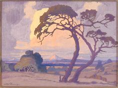 Jacob Hendrik Pierneef (South African, Thorn tree at dusk Art Painting, Landscape Paintings Acrylic, Landscape Paintings, Artist At Work, Tree Art, Tree Painting, South African Art, South African Artists, Architecture Painting