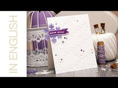 Faux Embossed Background Holiday Card. Video | Yana Smakula. My Cardmaking & Scrapbooking