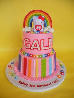 Hello Kitty Rainbow Birthday Cake | Flickr - Photo Sharing!
