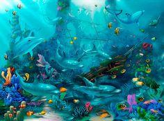 Dolphin Dance (Miller) via MuralsYourWay.com