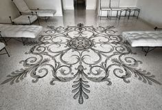 Terrazzo and mosaic flooring created in Milan for one exquisite client's taste.