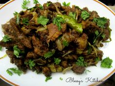 Blessy's Kitchen: Pepper Mutton Fry / Peppery Mutton