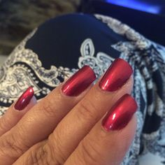 Sally Hansen Miracle Gel, Bordeaux Glow ...after 3 days