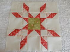 A Quilting Life - a quilt blog: More Red & Green Quilt Blocks