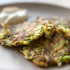 Zucchini Pancakes It's a fresh, flavorful and light dish that's perfect for a meal at home alone or an upcoming party.
